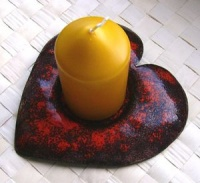 Kerzenständer - Herzform
